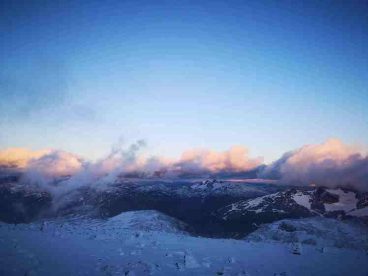 Solnedgang på Fanaråken