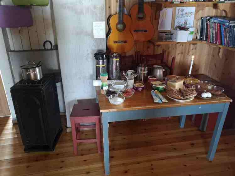 Fanaråken turisthyttes frokostbuffet